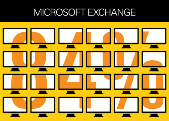 Microsoft Exchange is the go-to program for PC email management for 84 percent of U.S. businesses.