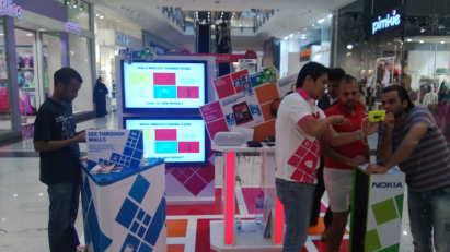 Intercol's Nokia display at Bahrain City Center | The Lumia Blog