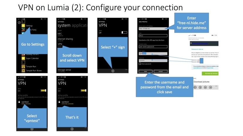 VPN on Lumia1